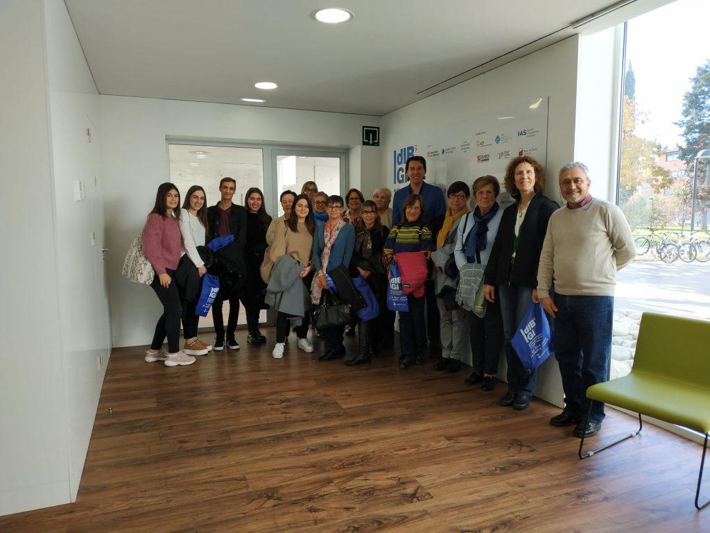 REPRESENTANTS DE L'ONCOLLIGA GIRONA VISITEN L'IDIBGI