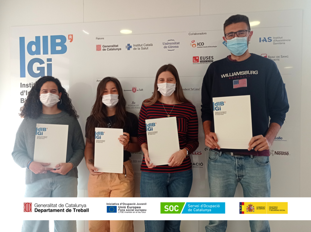 IDIBGI incorpora 4 jóvenes beneficiarios/se por el programa de Garantía Juvenil