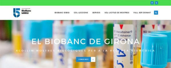 EL BIOBANC IDIBGI ESTRENA UN WEB PER A LA COMUNITAT CIENTÍFICA I DONANTS
