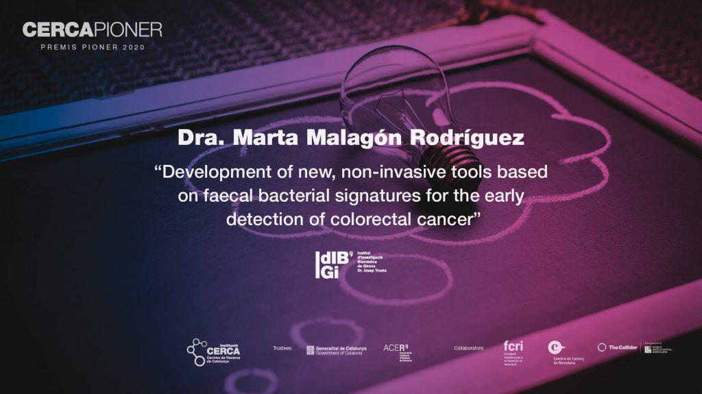 Premis Pioner 2020 - Acte de lliurament a la Dra. Marta Malagón