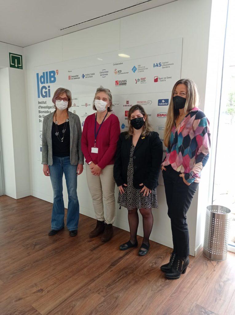 Visita institucional de la vicepresidenta tercera de la Diputació de Girona, Maria Puig, a l'IDIBGI