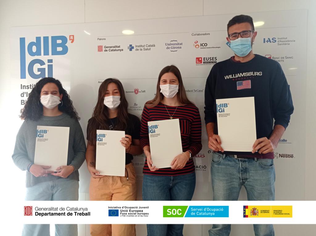 L'IDIBGI incorpora 4 joves beneficiaris/es pel programa de Garantia Juvenil